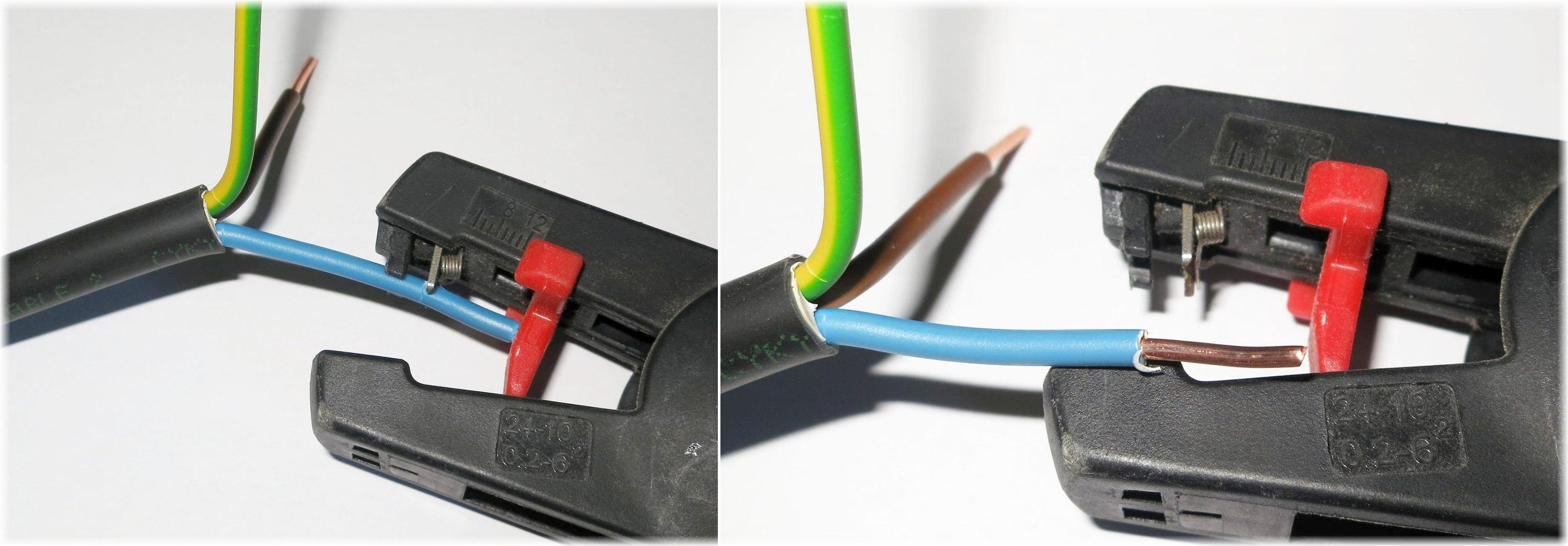 Kabelové dutinky odizolovací kleště